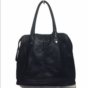 B MAKOWSKY 💯% Genuine Leather Large ToteBag Black